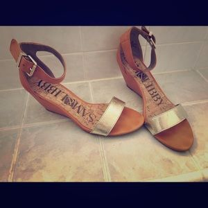 Sam and Libby for TJ Max Metallic Wedge Sandals